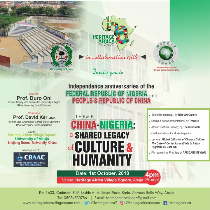 Heritage Africa Village Square Celebrates Nigeria-Chinese Culture on Independence Day