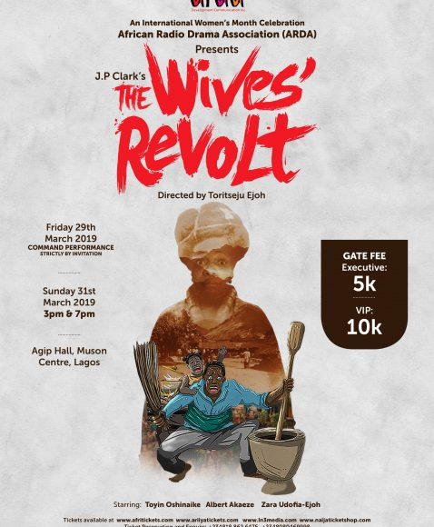 "ARDA Celebrates International Women's Month with JP Clark's ""Wives Revolt"" on Stage."